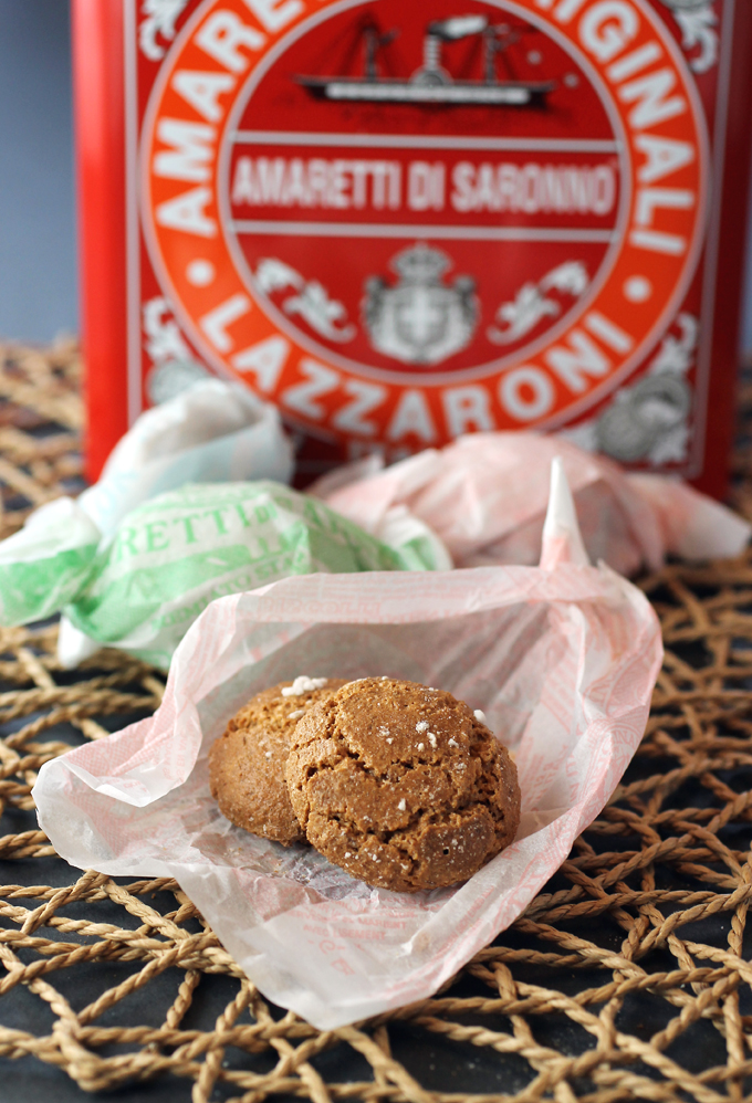 Italy's fabled amaretti cookies.