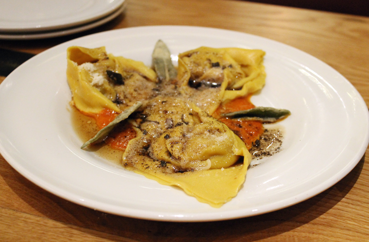 Perfect pasta dumplings filled with butternut squash.