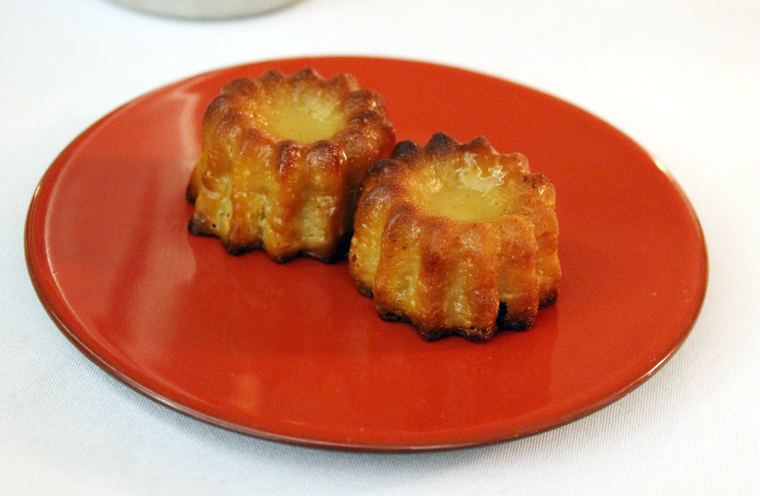 A pair of canneles.