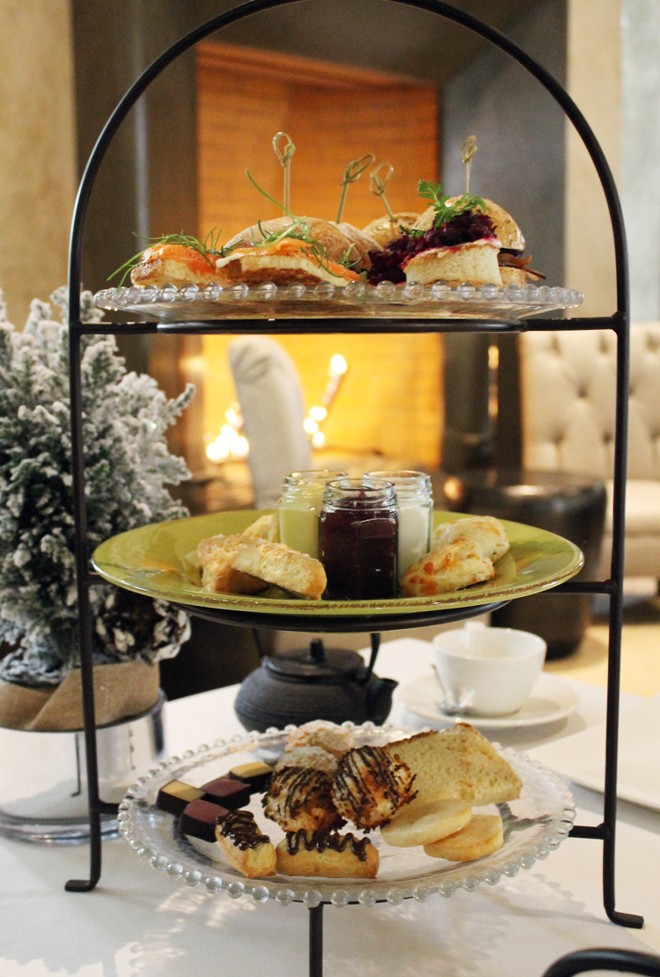 Holiday tea is served in style at the Hotel Healdsburg.