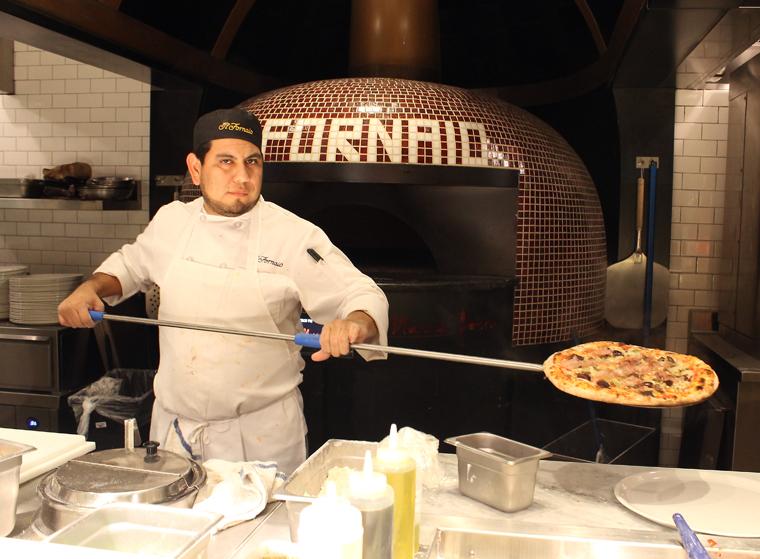 The Italian pizza oven.