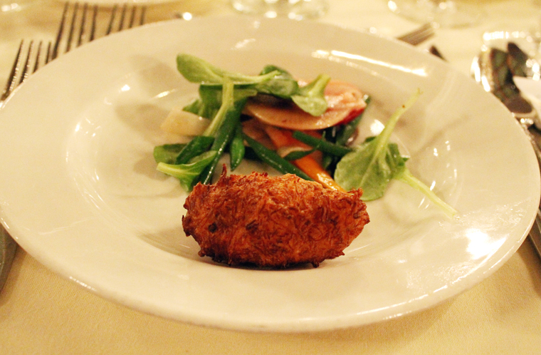 Armellino's crab beignet.