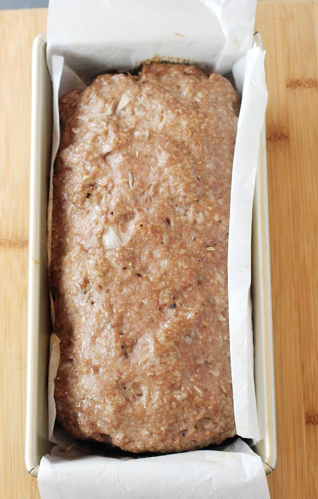 Just-baked meatloaf.