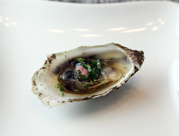 I shucked some to enjoy on the half shell with mignonette sauce.