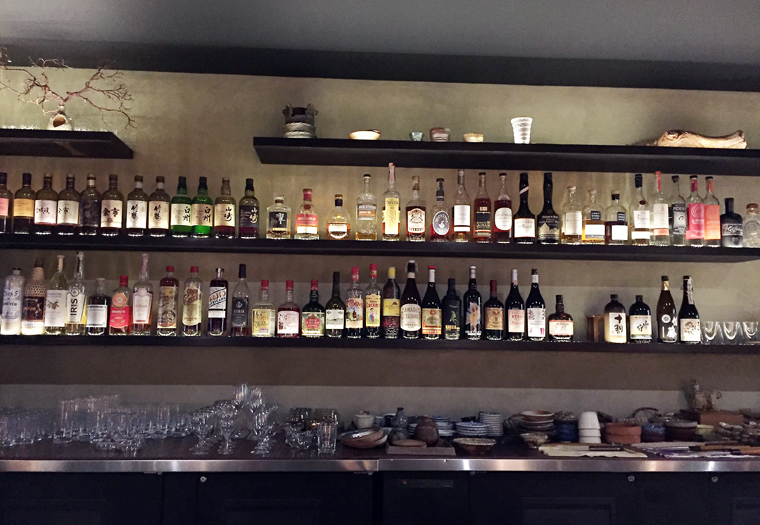 Shibumi has a curated list of sochu, wine and cocktails.
