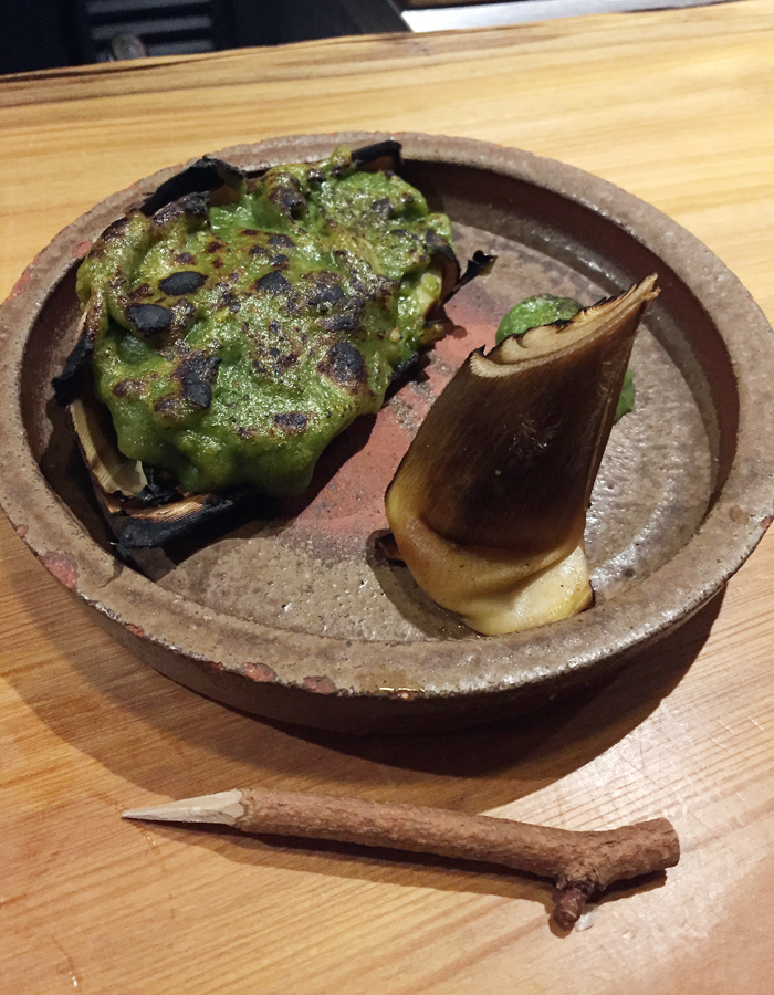 Young bamboo with shiso-miso. If it's on the menu, get it.