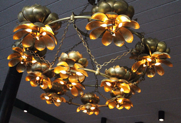 Original chandeliers from the Four Seas.