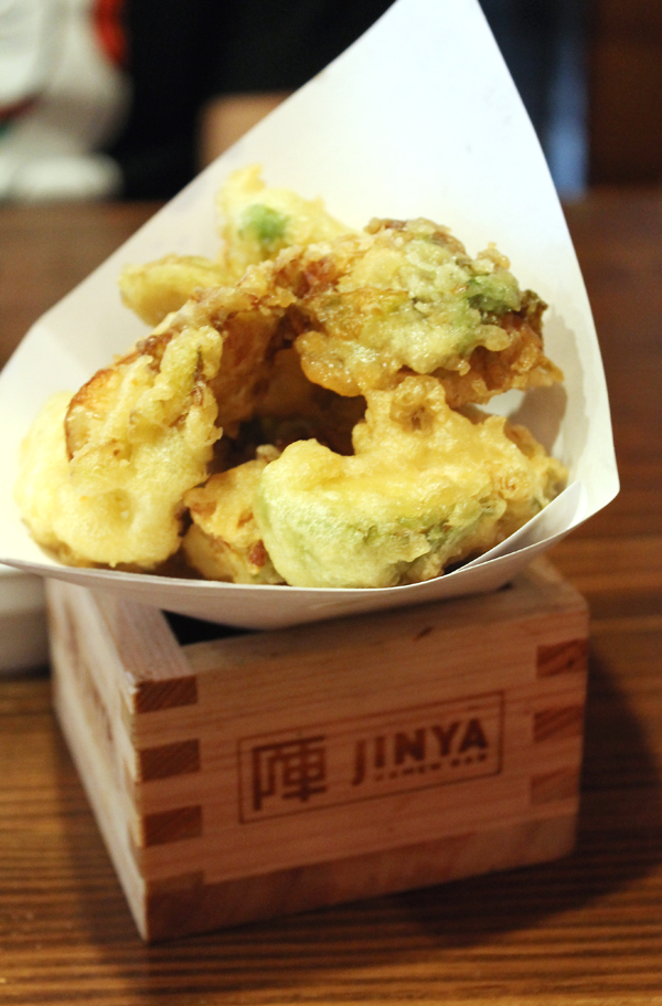 Brussels sprouts tempura. You can ask for spicy mayo to dunk them in.