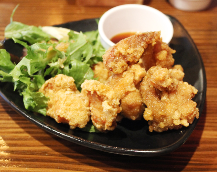 Fried chicken with ponzu sauce.