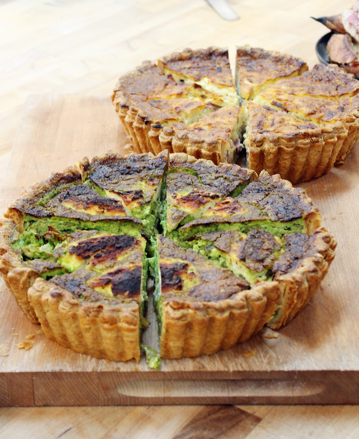 The crust is incredible on these quiches.