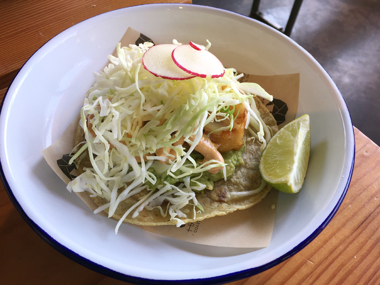 Fried fish taco.