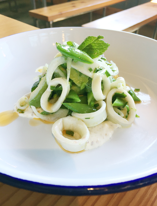 Impeccable poached calamari.