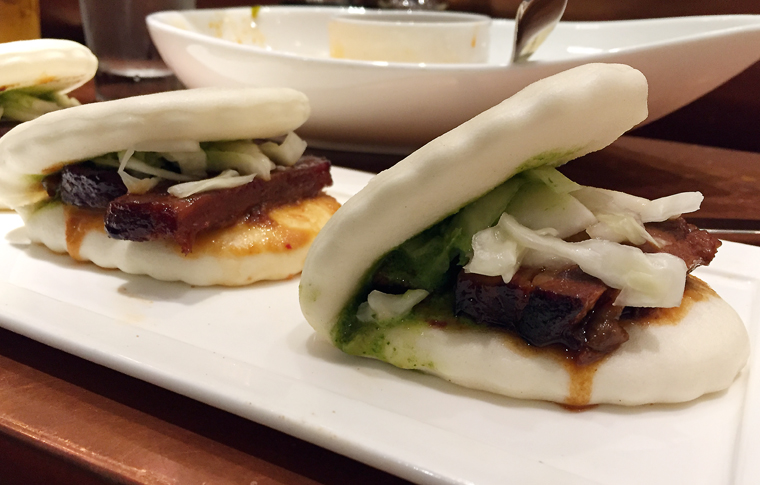 Big clam-shell pork buns.