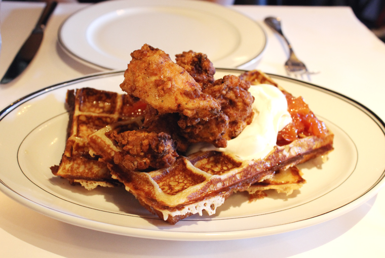 You can get just a waffle. But come on, you might as well add fried chicken to it.