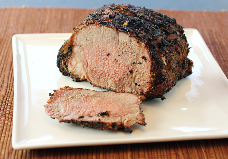 The veal loin roast. (Photo by Carolyn Jung)