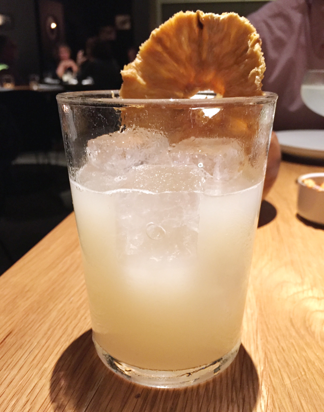 A cocktail with a fiery, fresh ginger taste.