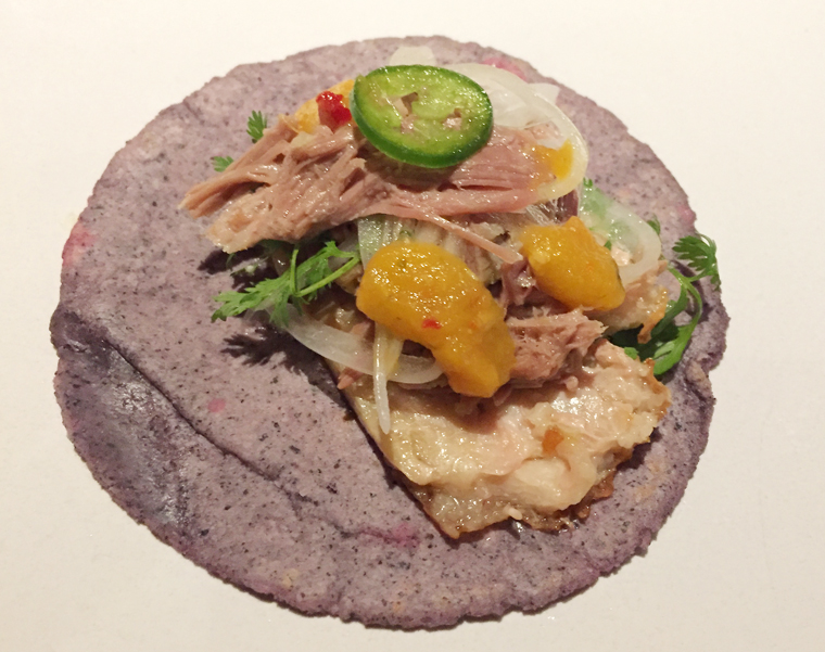 Make your own tacos with the duck confit.