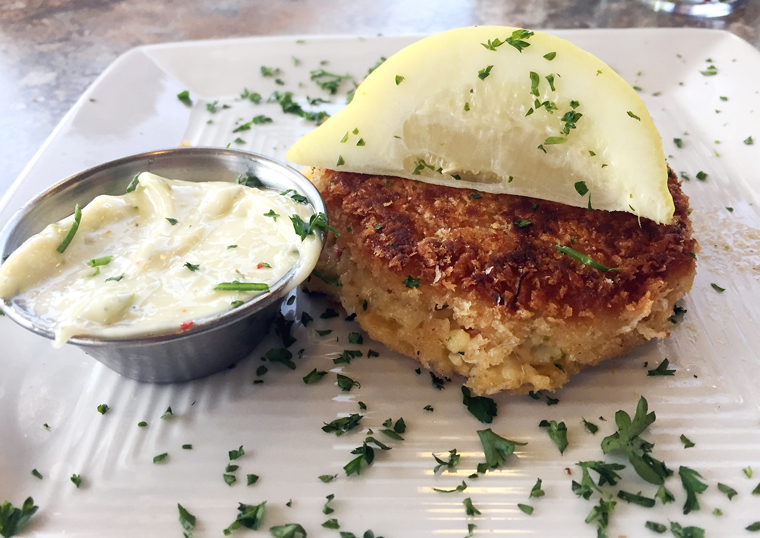 A crab cake that hit the spot.