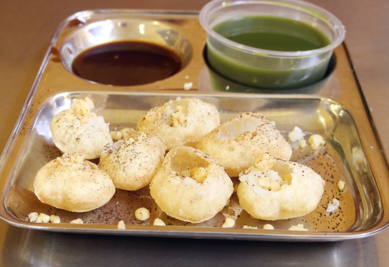 Pani puri, the perfect finger-food.