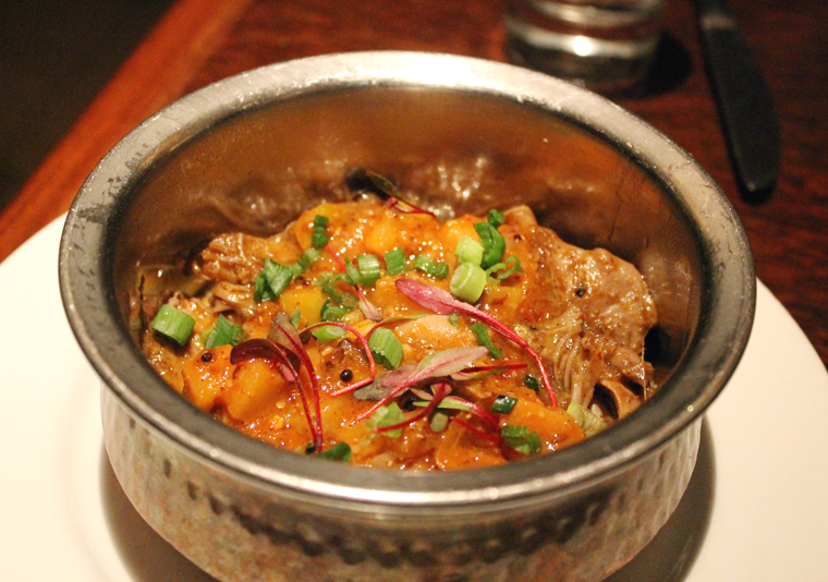 Delectable duck confit curry, that's what.
