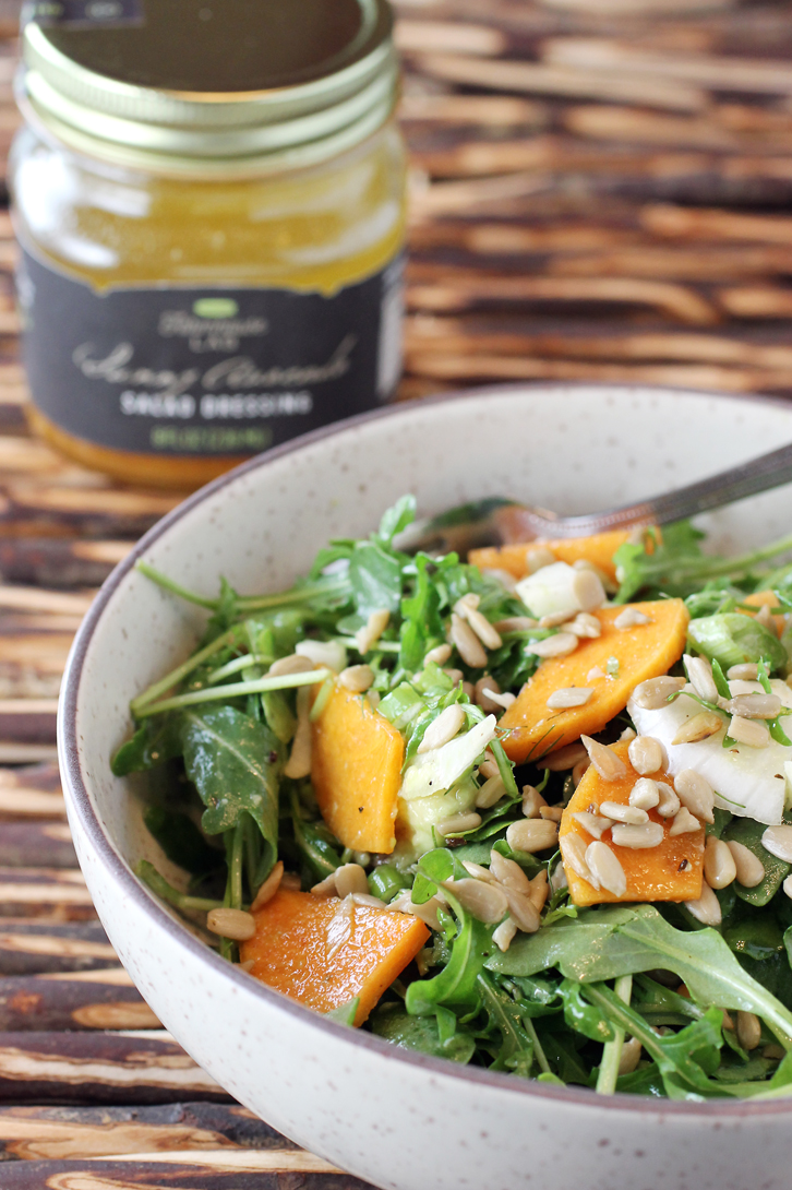 Avocado oil, apple cider vinegar and apricots combine for this zesty Farmhouse Lab dressing. (Photo by Carolyn Jung)
