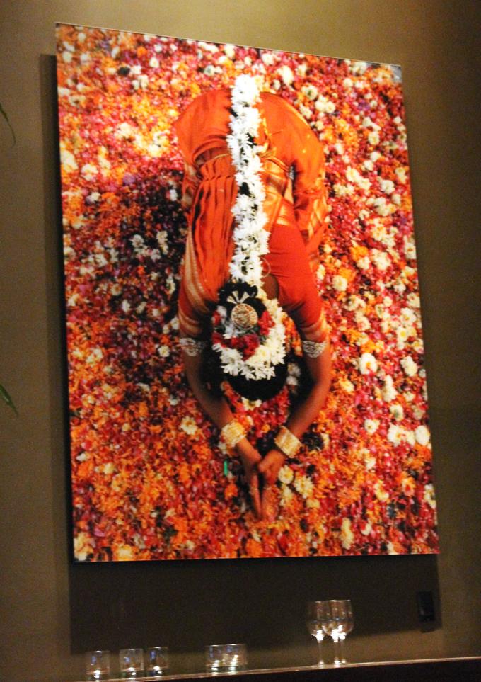Striking art work throughout the restaurant.