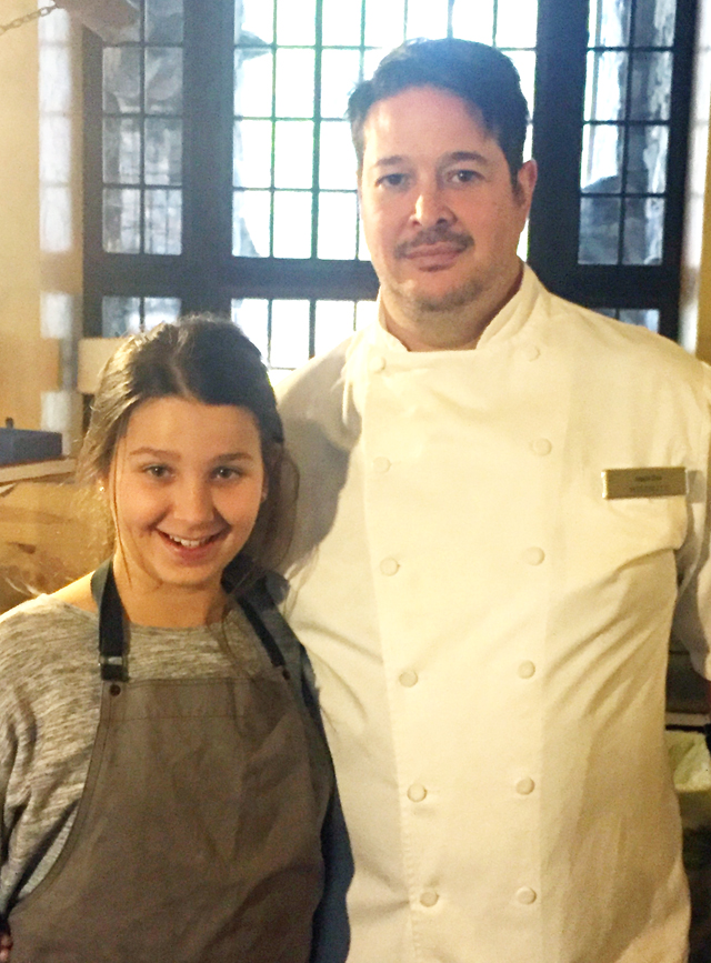 Chef Jason Fox of Commonwealth, with an assist from his daughter Lily.
