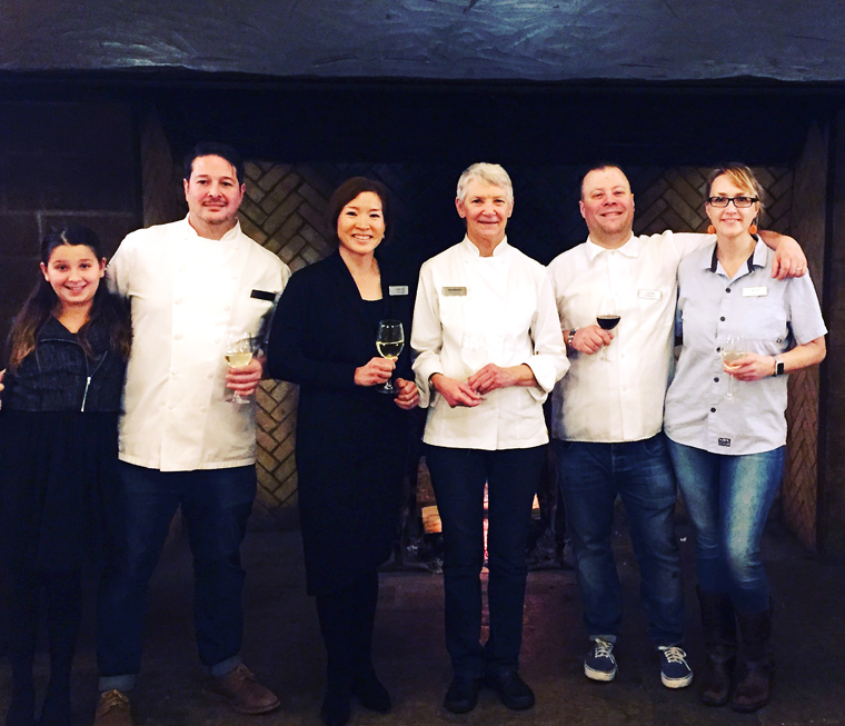 (Left to Right): Lily Fox, Jason Fox of Commonwealth, yours truly, Annie Sommerville of Greens, and Evan and Sarah Rich of Rich Table and RT Rotisserie.