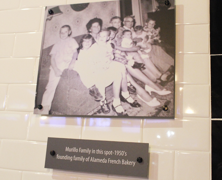 An old photo of the Murillo family that operated the bakery.