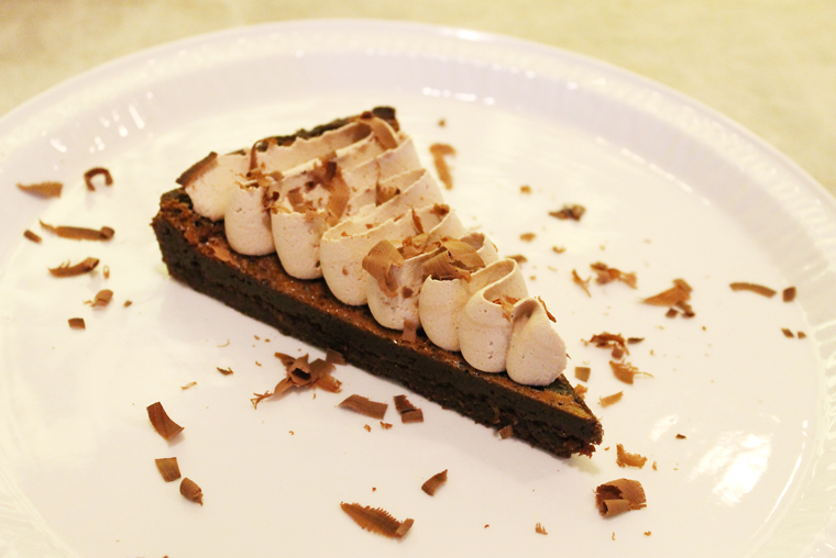 Chocolate tart.