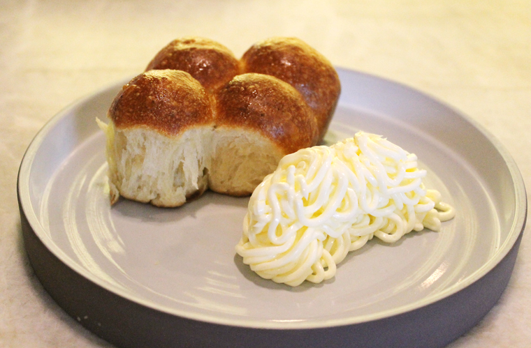 Irresistible Parker House rolls.