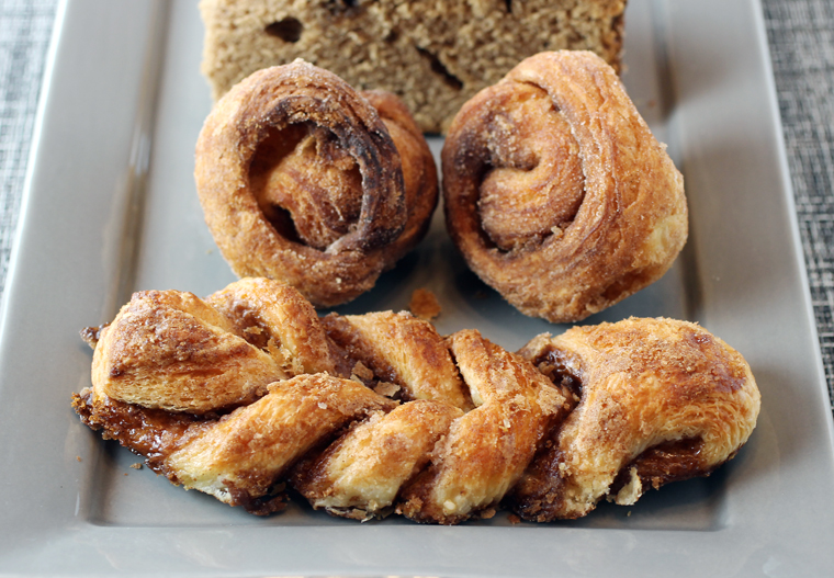 The cinnamon twist and mini cinnamon buns.