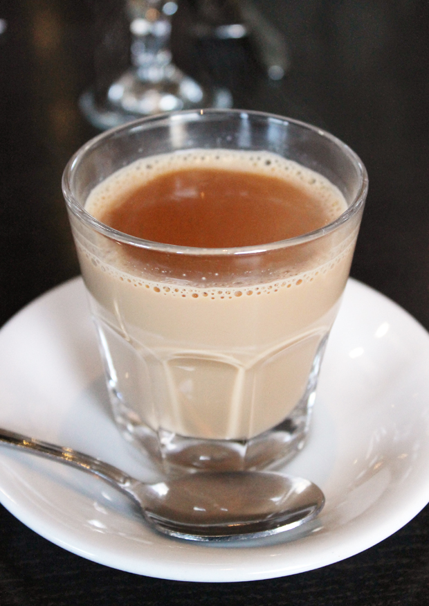 Warm up with milky chai tea.