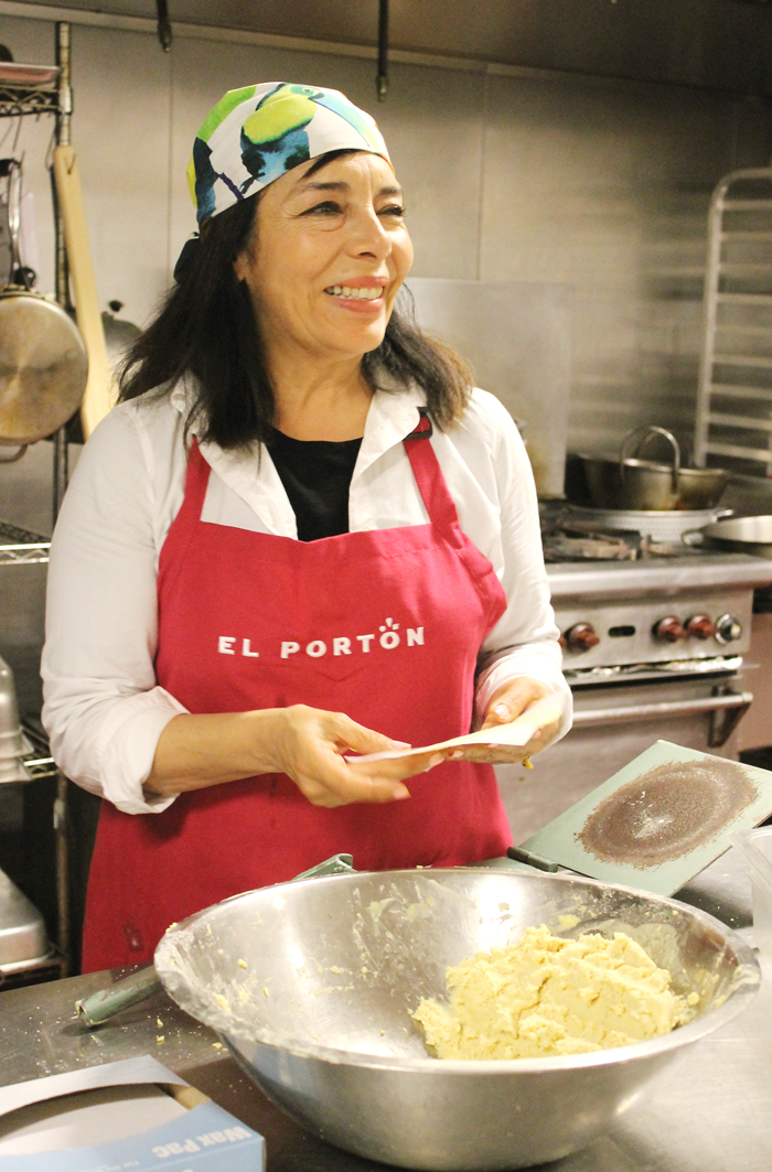 Executive Chef-Owner Gloria Dominguez making tortillas at her Tamarindo Antojeria Mexicana.