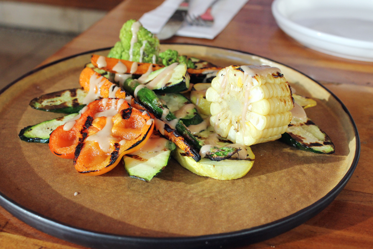 A lovely grilled veggie platter.