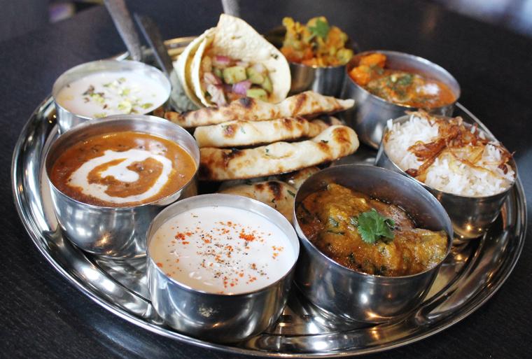 The non-vegetarian thali.