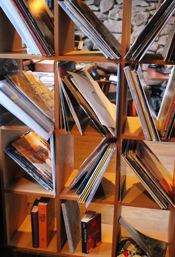 The record collection.