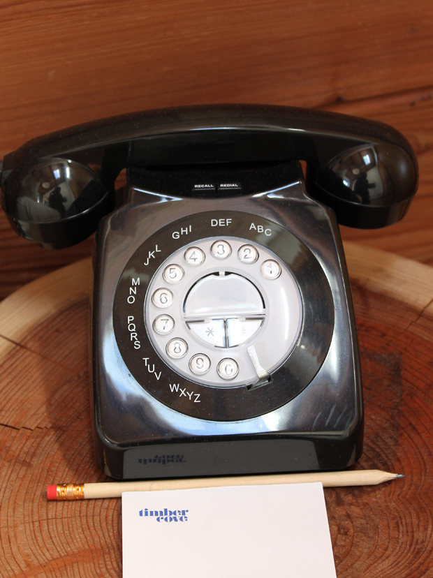 The phone in the room.