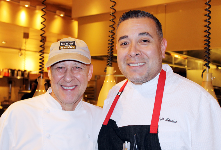 Chefs Bradley Ogden (left) and Sergio Morales, (right).