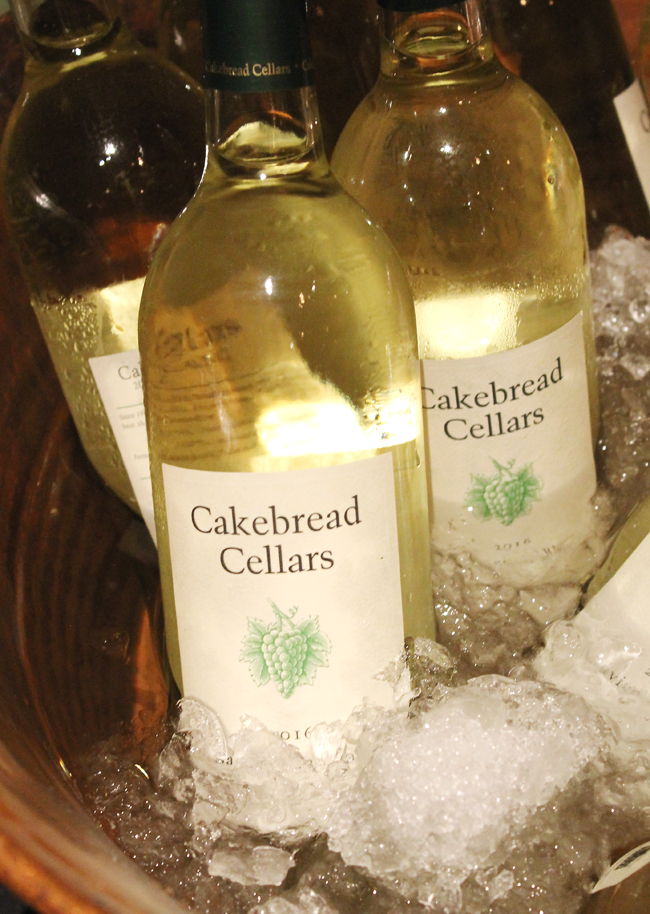 Cakebread Cellars' wines matched to each course.