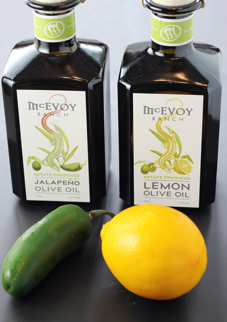 McEvoy Ranch's 2018 Jalapeno and Lemon olive oils.