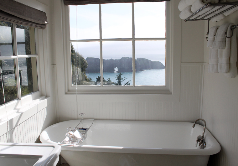 Clawfoot tub with a view.