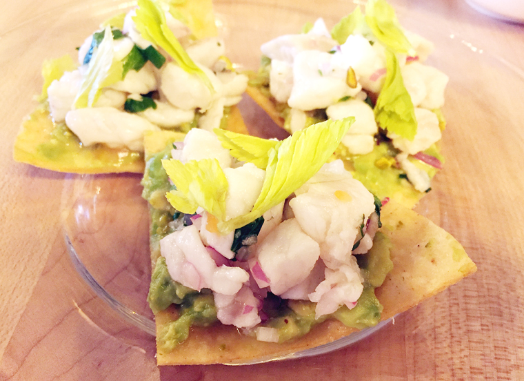 A sample of halibut ceviche.