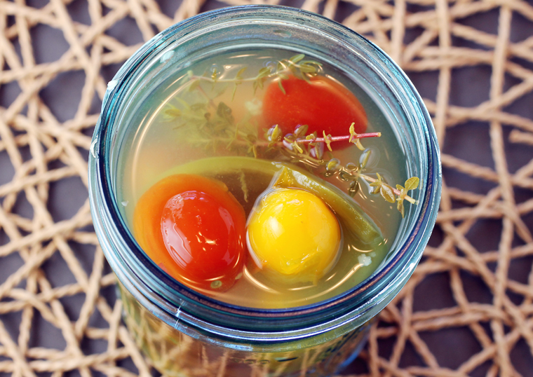 It could not be simpler to make these fast pickled tomatoes.