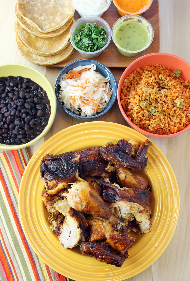 Roast chicken with all the fixings -- Mexican-style -- from Tacolicious' new extended delivery and pick-up rotisserie business.
