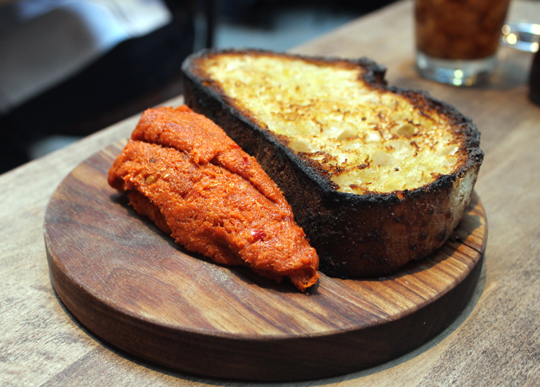 Bread and a whole lot of 'nduja.