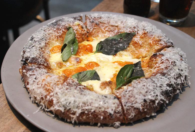 The distinctive artisan pizzas at Che Fico.