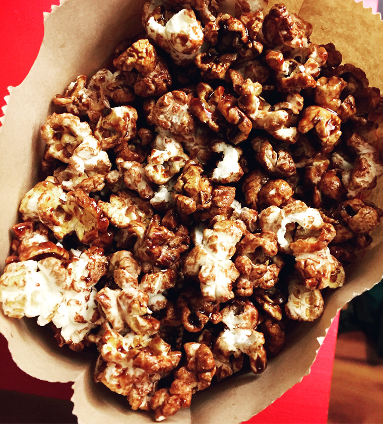 Heavenly chocolate popcorn.