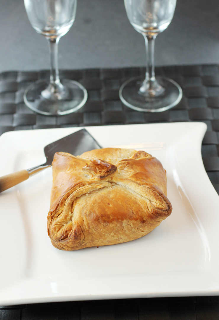 An elegant brie en croute fit for company -- or just spoiling yourself.