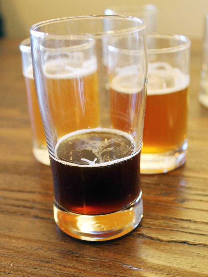 "A taste of beers, including ""Wasted Loaf'' (center)."
